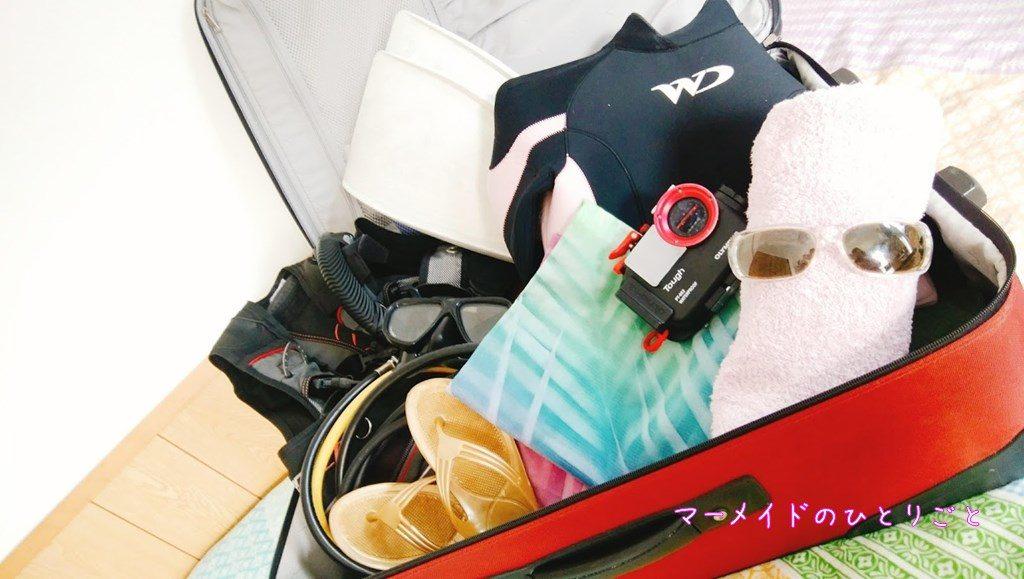 ダイビング器材 ツアー スーツケース