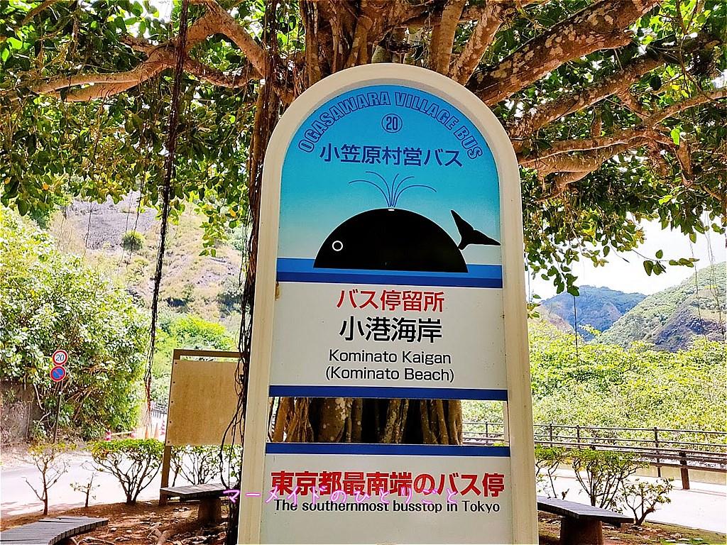 東京都最南端のバス停 小港海岸 小笠原